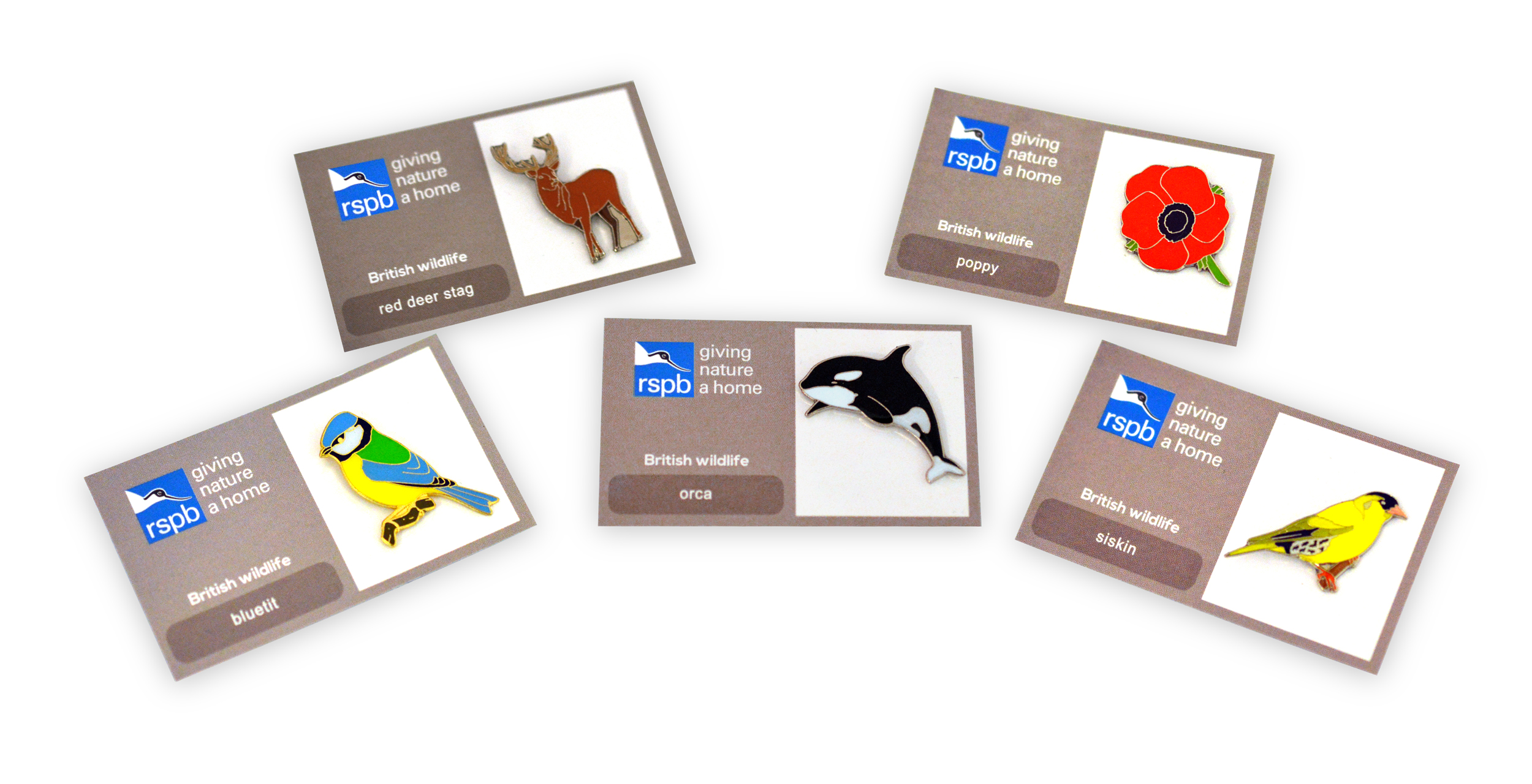 RSPB collectable pin badges
